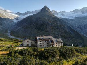 Schwindende Gletscher bei der Berliner Hütte mit Hornkees und Waxeggkees